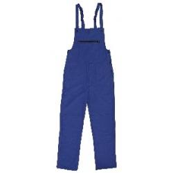 Kalhoty FRANTA montérkové s náprsenkou, modré 240g/m2