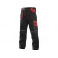 Kalhoty ORION TEODOR, černo-červené