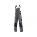 Kalhoty ORION KRYŠTOF, montérkové s náprsenkou, šedo-černé