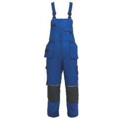 Kalhoty ORION KRYŠTOF, montérkové s náprsenkou,modro-černé