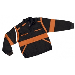 Blůza LUX EDA montérková, černo-oranžová