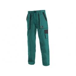 Dámské kalhoty CXS LUXY ELENA, zeleno-černé