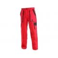 Dámské kalhoty CXS LUXY ELENA, červeno-černé