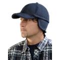 Čepice KEVIN s kšiltem, černá, fleecová, zimní